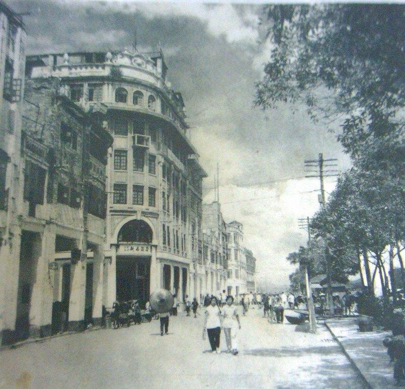 梧州风景黑白画