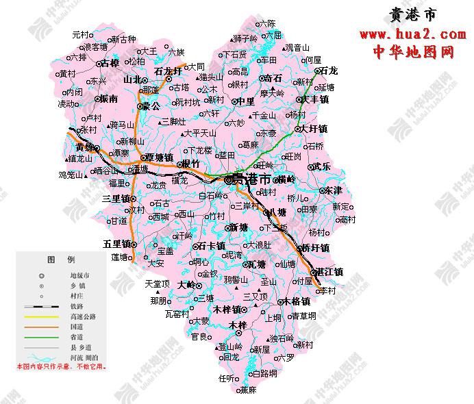 贵港地图(点击放大)