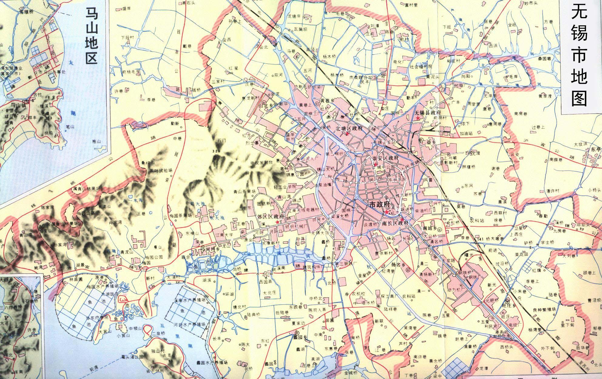 无锡地图大图
