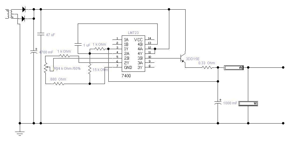 本机内用了lm723稳压集成块