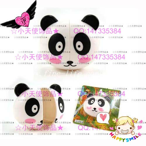 卡通头形动物牙刷挂-熊猫可爱创意浴室壁挂牙刷架; 卡通头形牙刷架