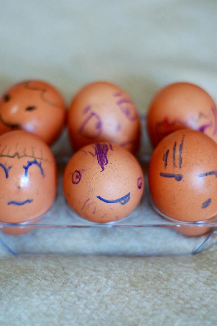 给鸡蛋一个另类的表情!