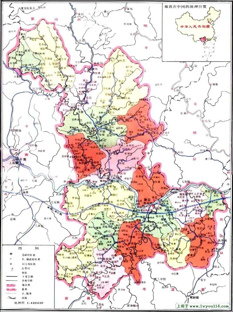 葵莆公李氏藤县的地图